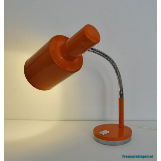 Orange desk lamp