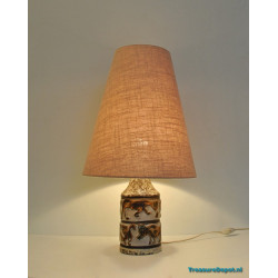Ceramic wildlife table lamp