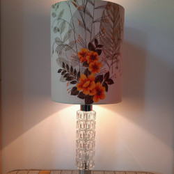 Solken glass and chrome table lamp
