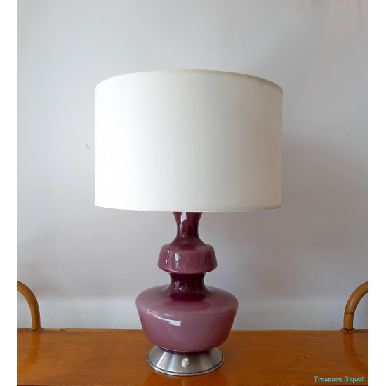Sixties glass table lamp