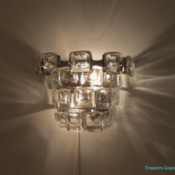 Glass disks wall lamp