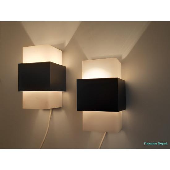 Sixties wall lamp set