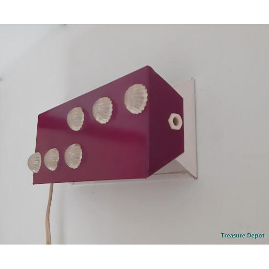 Vintage wall lamp purple