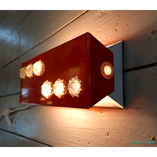 Vintage wall lamp orange
