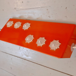 Vintage wall lamp orange