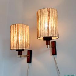 Seventies wall lamp set