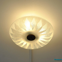 Ceiling lamp glass and wood