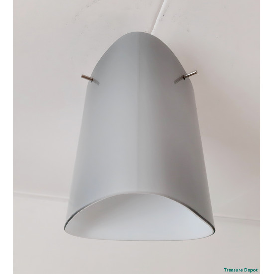 Grey glass ceiling lamp