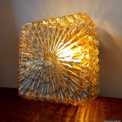 Iridescent glass ceiling lamp