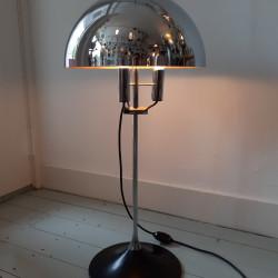Chrome mushroom floor lamp