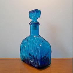 Empoli bottle or decanter blue