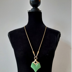 Givenchy modernist lucite pendant necklace