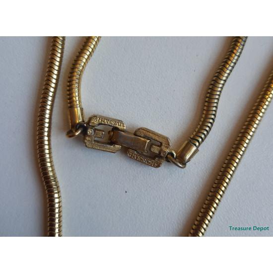 Givenchy modernist lucite pendant necklace