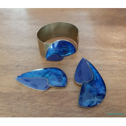 Modernist resin and brass set
