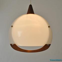 Acrylic and wood pendant