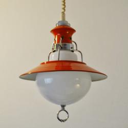 Sixties hanging lamp orange