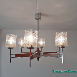 Vintage hanging lamp, 6 arms