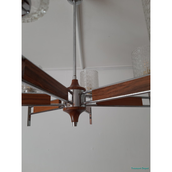 Vintage hanging lamp, 6 arms