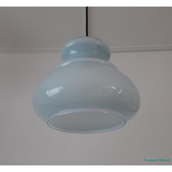 Light blue glass hanging lamp
