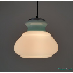 Light blue glass hanging lamp