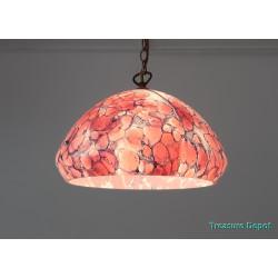 Violet glass hanging lamp