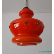 Orange glass hanging lamp
