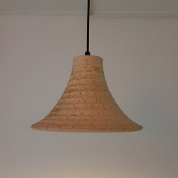 Ceramic hand made hanging lamp