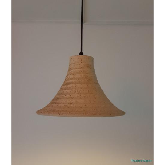 Ceramic hand made hanging lamp