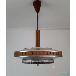 Hanging lamp glass and metal