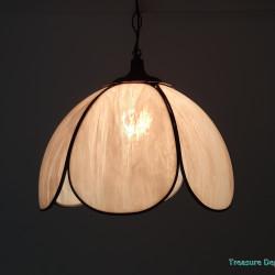 Handmade light glass & pewter