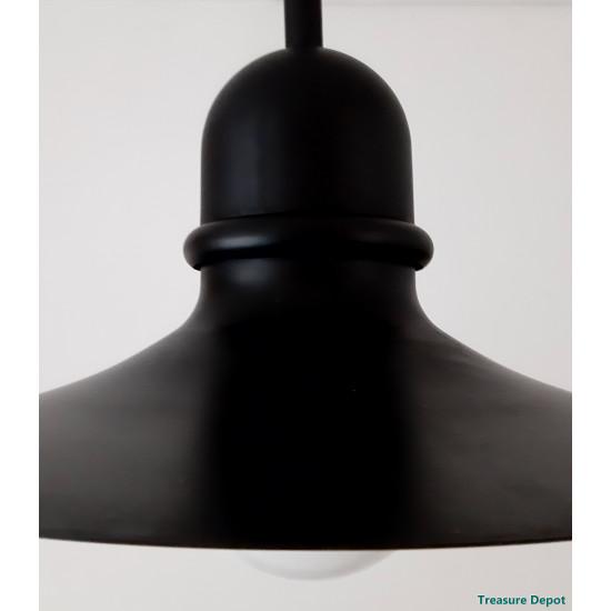 Black and white hanging lamp