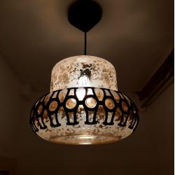 Hanging lamp iridescent glass