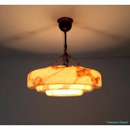 Art Deco marbled lamp
