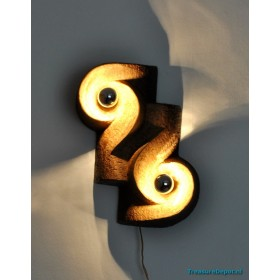 Ceramic art - wall lamp