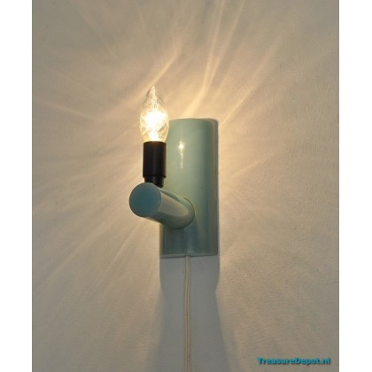 Fifties turquoise wall lamp